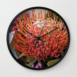 Pin wheel Protea Wall Clock