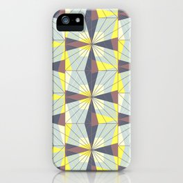 It's complicated. Bold geometric pattern in marsala, yellow and charcoal. iPhone Case