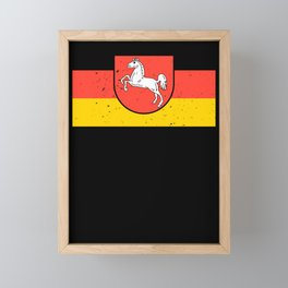 Lower Saxony logo flag coat of arms flag gift Framed Mini Art Print