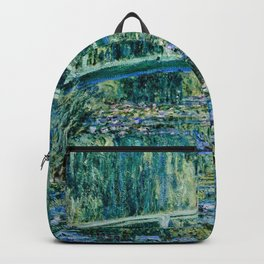 Claude Monet - Water Lilies And Japanese Bridge Backpack