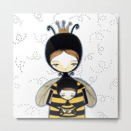 Queen Bee Motherhood Metal Print