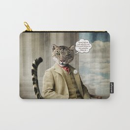 Sir Sebastian Snow Leopard Carry-All Pouch
