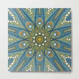 Mandala Eye of the Pisces Metal Print
