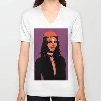 valentina V-neck T-shirts featuring Valentina in minimum by Serhii Bilyk