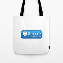 Accepted here: Litecoin Tote Bag