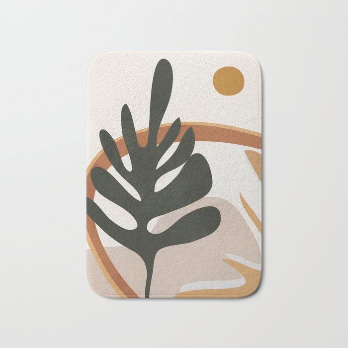 Abstract Plant Life I Bath Mat