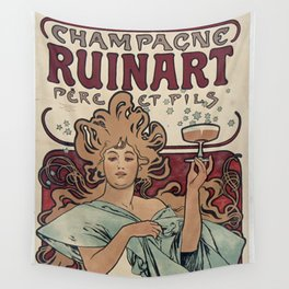 Ruinart Champagne / Alphonse Mucha Wall Tapestry