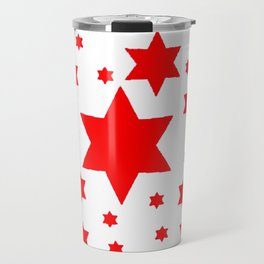 JULY 4TH  RED STARS DECORATIVE DESIGN Travel Mug