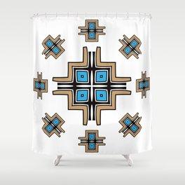 aztec cross mandala Shower Curtain