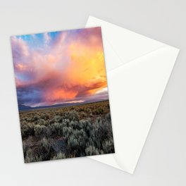 Enchanted Evening - Colorful Storm Cloud Over Desert near Taos, New Mexico Stationery Cards