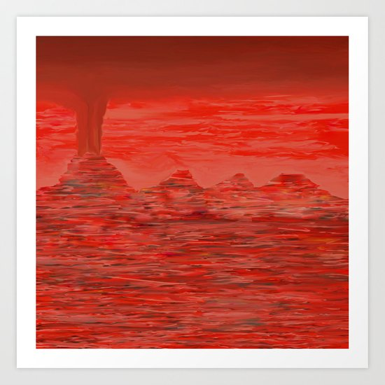 Tongues Lay Sizzling in Embers Art Print