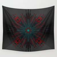 cyberpunk Wall Tapestries featuring Nucleotid by Obvious Warrior