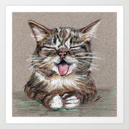Cat *Lil Bub* Art Print