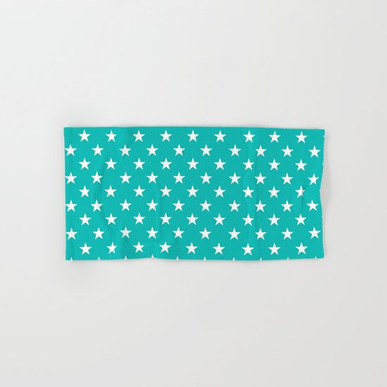 Stars (White/Tiffany Blue) Hand & Bath Towel