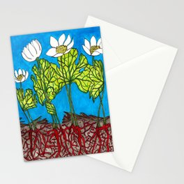 Bloodroots - Sanguinaria canadensis Stationery Cards