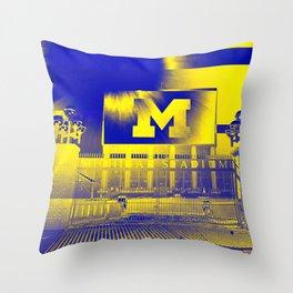 Michigan Stadium Throw Pillow