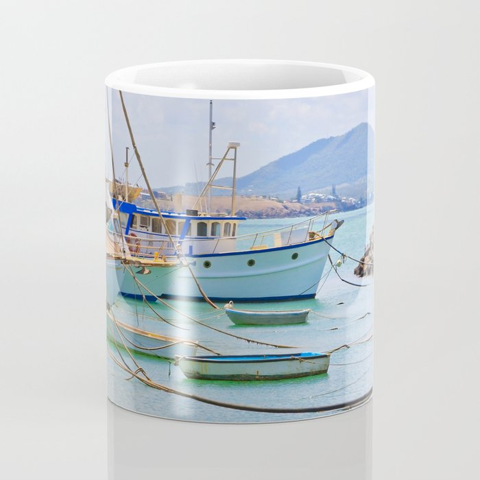 Boats on the river Coffee Mug