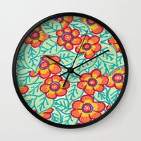 matisse Wall Clocks featuring Matisse Colours  by Lucy Auge