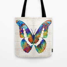 Colorful Butterfly Art by Sharon Cummings Tote Bag
