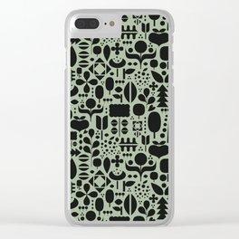 Organic motif pattern Clear iPhone Case