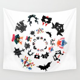 Rorschach test subjects' perceptions of inkblots psychology   thinking Exner score Wall Tapestry