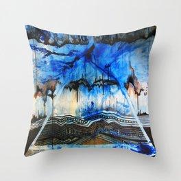 Blue Note Fire Throw Pillow