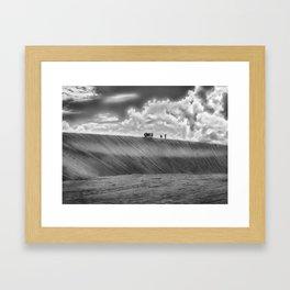 People Walking at Dune Jericoacoara Brazil Framed Art Print