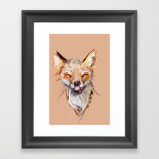Happy Fox Framed Art Print