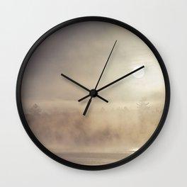 rising mist Wall Clock