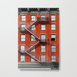 new york city ... fire escape Metal Print