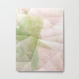 Frozen Geometry - Pink & Green Metal Print