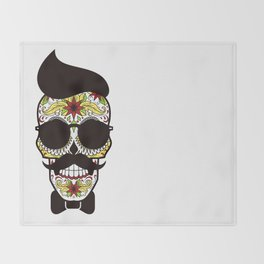 Mr. Sugar Skull Throw Blanket