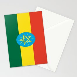flag of Ethiopia-ኢትዮጵያ, የኢትዮጵያ ,Amharic,  Ethiopian, Addis Ababa. Stationery Cards
