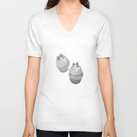 cupcakes V-neck T-shirts featuring Cupcakes by Ashley Casperson