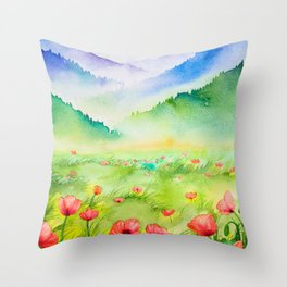 Spring Scenery #4 Throw Pillow