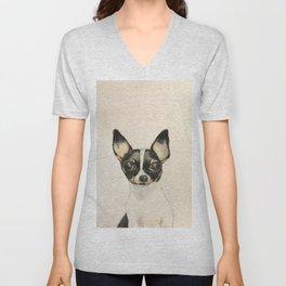 Chihuahua - the tiny dog Unisex V-Neck