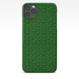 Binary Green iPhone Case