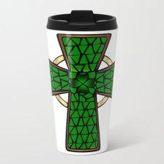 Shamrock Celtic Cross Metal Travel Mug