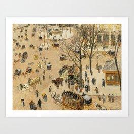 """Camille Pissarro """"La Place due Théâtre Français"""" Art Print"""