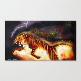 Fire Tiger Canvas Print