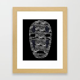 No-Face Mask Typograph Framed Art Print