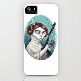 Princess Leia Cat iPhone Case