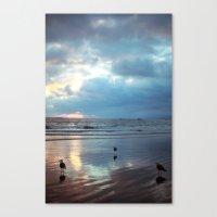 santa monica Canvas Prints featuring Santa Monica by Kylie Turley