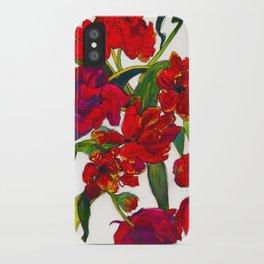 Inky Tulips iPhone Case