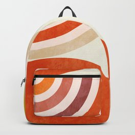 shapes abstract III modern mid century Backpack