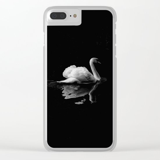 Black swan Clear iPhone Case