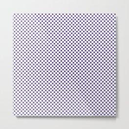 Passion Flower Polka Dots Metal Print