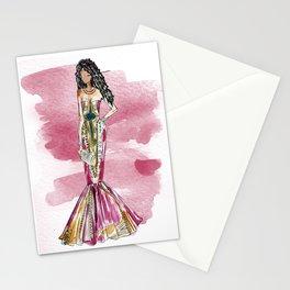 Date Night (pink version splash) Stationery Cards