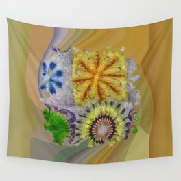 Mudcapped Feeling Flower  ID:16165-015150-26640 Wall Tapestry