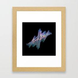 3D Fractal Driftwood Framed Art Print